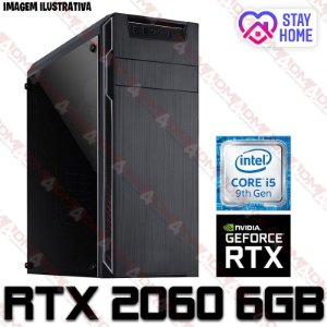 PC Gamer Intel Core i5 Coffee Lake 9400F, 16GB DDR4, SSD 240GB, GPU GEFORCE RTX 2060 OC 6GB