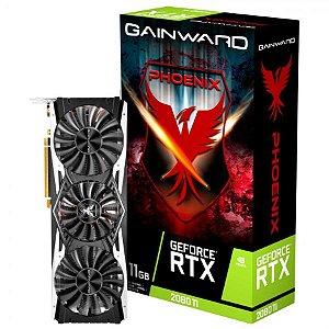 Placa de Vídeo GPU GEFORCE RTX 2080TI PHOENIX OC 11GB GDDR6 - 352 BITS GAINWARD - NE6208TT20LC-150X