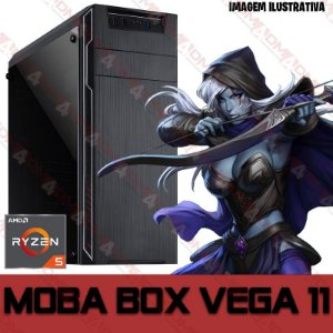 PC Gamer MOBA BOX AMD Ryzen 5 3400G, 16GB DDR4, SSD 480GB, WI-FI, APU RADEON VEGA 11