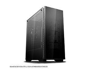 Gabinete ATX Gamer C/ Frente e Tampa Lateral em Vidro, USB 3.0 Frontal - DeepCool MATREXX 50 BLACK