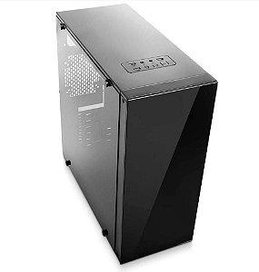 Gabinete Micro ATX Gamer C/ Tampa lateral em Acrílico, USB 3.0 Frontal - BLACK BPC-330ATX