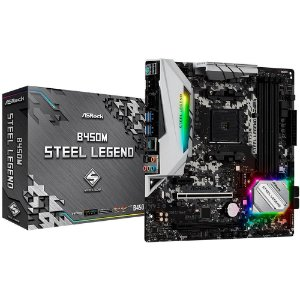 Placa Mãe ASROCK CHIPSET AMD B450M STEEL LEGEND SOCKET AM4