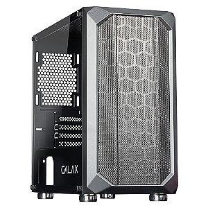 Gabinete Micro ATX Gamer C/ Tampa Lateral em Vidro, USB 3.0 Frontal, GALAX NEBULOSA GX700 BLACK
