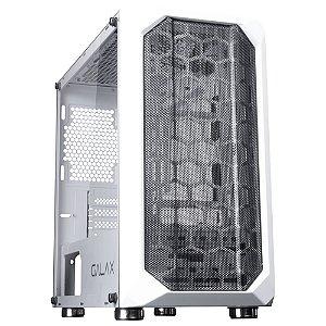 (SUPER OFERTA BLACK FRIDAY) Gabinete Micro ATX Gamer C/ Tampa Lateral em Vidro, USB 3.0 Frontal, GALAX NEBULOSA GX700 WHITE