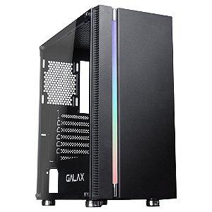 Gabinete ATX Gamer C/ Tampa Lateral em Vidro, USB 3.0 Frontal, GALAX QUASAR GX600 BLACK
