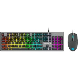 Kit Gamer Fortrek Ranger Grafite - Teclado, LED Rainbow, ABNT2 + Mouse - 70551