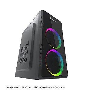Gabinete Micro ATX Black C/ 2 USB Frontal e Fonte 230 Watts -  BLUECASE BG-2302