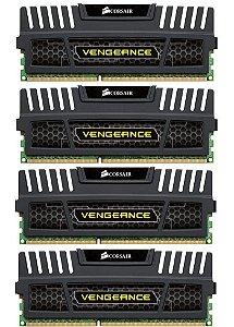 Memória 32gb DDR3 1600 Mhz Corsair Vengeance (4X8gb)