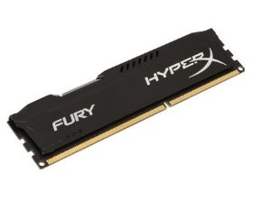 Memória P/ Desktop Kingston HyperX FURY 4GB 1600Mhz DDR3 CL10 Black Series - HX316C10FB/4 (1X4gb)