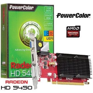 Placa de Vídeo ATI Radeon 5450 - 1gb DDR3 - 64 Bits Power Color