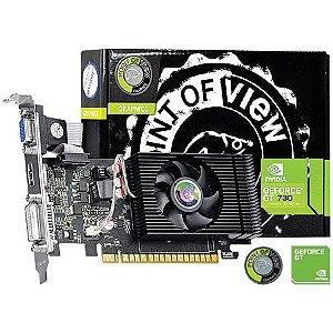 Placa de Vídeo Geforce GT 730 - 4gb DDR3 - 128 Bits Point of View VGA-730-C5-4096