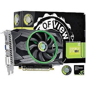 Placa de Vídeo Geforce GTX 650 - 2gb DDR5 - 128 Bits Point of View VGA-650-C1/A1-2048