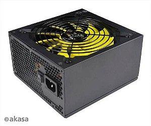 Fonte ATX 550 Watts Reais Modular C/ PFC Ativo AKASA Venom Power 80% Plus Bronze AK-PA055AM01