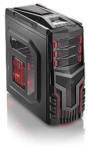 Gabinete ATX Gamer Warrior - Multilaser Ga124 C/ Acrílico e USB 3.0