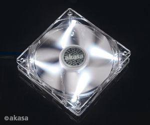 Cooler Fan 12CM P/ Gabinete AKASA AK-FN055 LED Branco