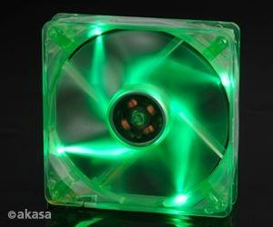 Cooler Fan 12CM P/ Gabinete AKASA AK-174CG-4GNS LED Verde