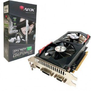 Placa de Vídeo GPU GEFORCE GTX 750TI 2GB DDR5 128 BITS AFOX - AF750TI-2048D5H5-V7