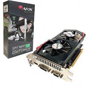Placa de Vídeo GPU GEFORCE GTX 750TI 2GB DDR5 128 BITS AFOX - AF750TI-2048D5H5-V7
