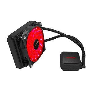 Water Cooler 120MM Compatível com Processadores Intel e AMD Mymax Algor MYC/FC-V2-120MM/RD - LED RED