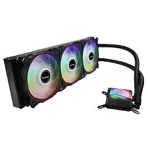 Water Cooler 360MM Compatível com Processadores Intel e AMD Mymax Algor MYC/FC-V2-360-RGB - LED RGB