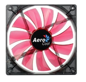 Cooler FAN AeroCool 140x140mm Lightning Red EN51370