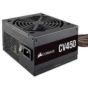 Fonte ATX 450 Watts Reais C/ PFC Ativo Corsair CV450 80% Plus Bronze CP-9020209-BR