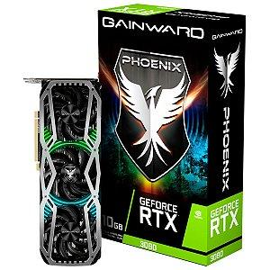 Placa de Vídeo GPU GEFORCE RTX 3080 PHOENIX 10GB GDDR6X - 320 BITS GAINWARD NED3080019IA-132AX