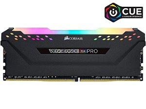 Memória 16GB DDR4 CL16 - 3200 Mhz Corsair Vengeance PRO RGB (1X16GB) BLACK - CMW16GX4M1Z3200C16