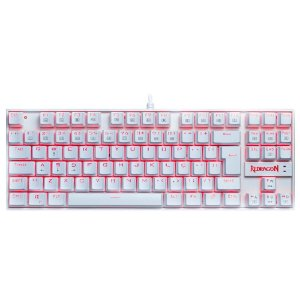 Teclado Mecânico Gamer Redragon Kumara Single Color, Switch Outemu Blue, ABNT2, Branco - K552W-2 (PT-BLUE)