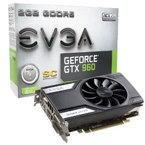 Placa de Vídeo Geforce GTX 960 SC 2gb DDR5 - 128 Bits EVGA 02G-P4-2962-KR