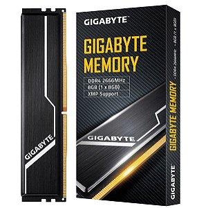 Memória Ram P/ Desktop 8GB DDR4 CL16 2666 Mhz GIGABYTE - GP-GR26C16S8K1HU408 (1X8GB)