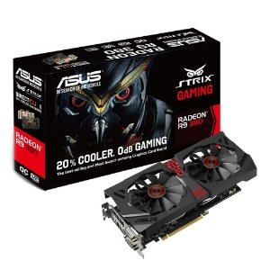 Placa de Vídeo AMD Radeon R9 380 Strix Gaming 4gb DDR5 - 256 Bits ASUS