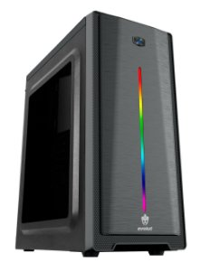 Gabinete Micro ATX C/ Tampa Lateral em Acrílico, USB 3.0 Frontal, Iluminação RGB - EVOLUT GAMMA EG-805