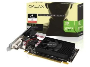 Placa de Vídeo GPU GEFORCE GT 210 1GB DDR3 64 BITS GALAX - 21GGF4HI00NP