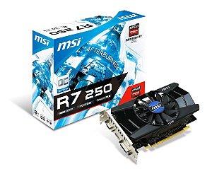 Placa de Vídeo AMD Radeon R7 250 OC 2gb DDR3 - 128 Bits MSI