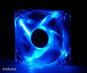 Cooler FAN Akasa 8cm com LED Azul AK-170CB-4BLS