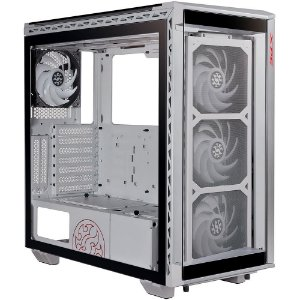 Gabinete ATX Gamer C/ Tampa Lateral em Vidro, USB 3.0 Frontal, ARGB, 4 Coolers - ADATA XPG Battlecruiser White