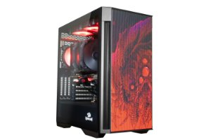 Gabinete Gamer ReDragon Infernal Dragon Strafe, Mid Tower, Vidro Temperado, Black, ATX, Sem Fonte, Sem Fan, GC-706IF