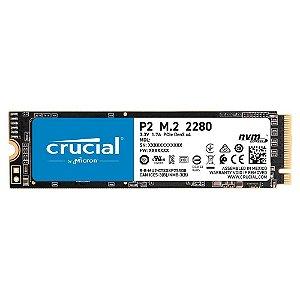SSD Crucial P2, 1000GB, M.2 NVMe, Leituras: 2400Mb/s e Gravações: 1800Mb/s - PCIe M.2 SSD - CT1000P2SSD8