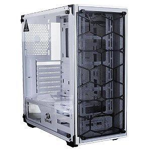 Gabinete ATX Gamer C/ Frente e Tampa Lateral em Vidro, USB 3.0 Frontal - Redragon WheelJack GC-606WH White