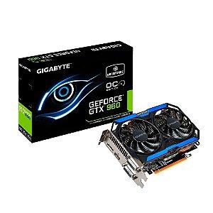 Placa de Vídeo Geforce GTX 960 OC 2gb DDR5 - 128 Bits Gigabyte WindForce GV-N960OC-2GD