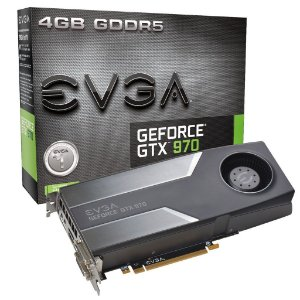 Placa de Vídeo Geforce GTX 970 - 4gb DDR5 - 256 Bits EVGA 04G-P4-1970-KR