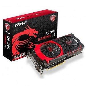 Placa de Vídeo AMD Radeon R9 390 8gb DDR5 - 512 Bits MSI Gaming