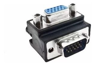 Adaptador VGA Macho para VGA Fêmea 90º