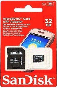Kit de 10 Cartões de Memória Sandisk Micro Sdhc 32gb