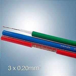 Cabo Vídeo Componente 3x0.20 Mm² - por Metro