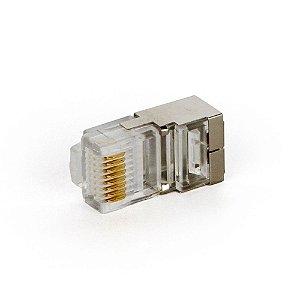 Conector Rj45 Blindado Cat5e 8 vias