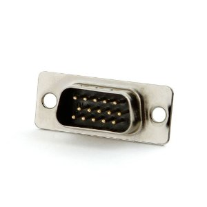 Conector Db15 Pinos Vga para Solda Macho