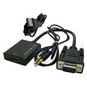 Cabo Conversor VGA para HDMI com Áudio