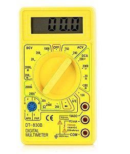 Multímetro Digital Portátil, Visor Lcd - Dt 830b Multimeter Precision